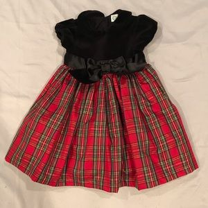 Little Me Christmas Dress With Bottoms Size 18M
